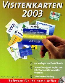 Visitenkarten 2003