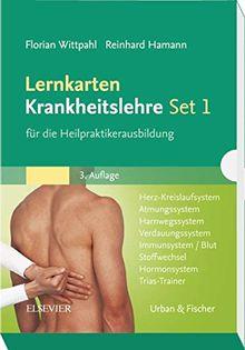 Lernkarten Krankheitslehre Set 1 für die Heilpraktikerausbildung: Herz-Kreislaufsystem, Atmungssystem, Harnwegssystem, Verdauungssystem, Immunsystem/Blut, Stoffwechsel, Hormonsystem, Trias-Trainer