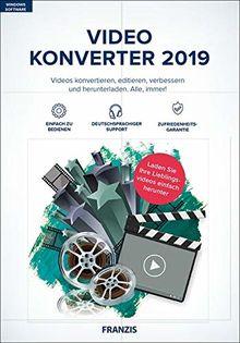 FRANZIS Video Konverter 2019|2019|4K-UHD- und HD-Videos|-|Für PC Windows 10 / 8.1 / 8 / 7|Disc|Disc