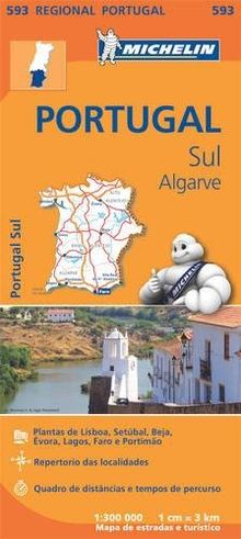 Portugal Sud - Algrave - Michelin Regional Map 593: Map (Michelin Regional Maps)