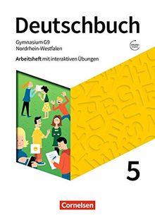 Deutschbuch Gymnasium - Nordrhein-Westfalen - Neue Ausgabe: 5. Schuljahr - Arbeitsheft mit interaktiven Übungen auf scook.de: Mit Lösungen