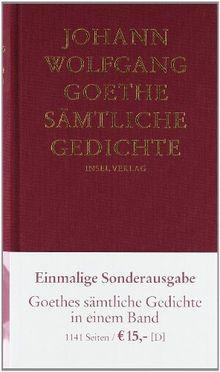 Sämtliche Gedichte Von Goethe Johann Wolfgang