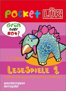 PocketLÜK: Lesespiele 1: 5-7 Jahre: Buchstaben- und Wörterspiele mit Selbstkontrolle. (5-7 Jahre)
