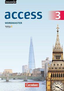 English G Access - Allgemeine Ausgabe: Band 3: 7. Schuljahr - Wordmaster mit Lösungen: TING-fähiges Vokabelübungsheft