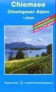 Topographische Sonderkarten Bayern. Sonderblattschnitte auf der Grundlage der amtlichen topographischen Karten, meist grössere Kartenformate mit ... Bl.7, Chiemsee, Chiemgauer Alpen: UK L 7