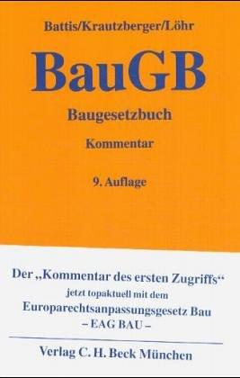baugesetzbuch baugb kommentar von ulrich battis
