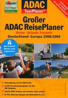 Großer ADAC ReisePlaner 2008/2009, 1 DVD-ROM Reise, Urlaub, Freizeit. Deutschland, Europa. Für Windows 2000/XP/Vista