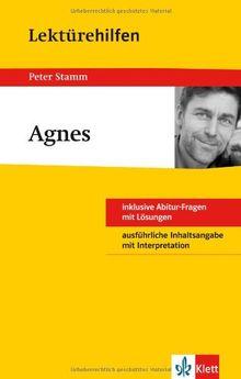 """Lektürehilfen Peter Stamm """"Agnes"""": inklusive Abitur-Frage mit Lösungen. Ausführliche Inhaltsangabe mit Interpretation"""