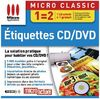 Etiquettes CD/DVD