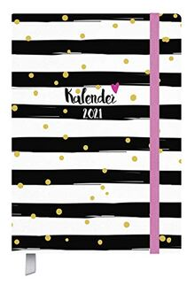 Taschenkalender Campus Glamour 18 Monate 2020/2021: Terminplaner A5 I Kalendarium von Okt. 2020-März 2022 I Platz für Notizen und Lesezeichenband