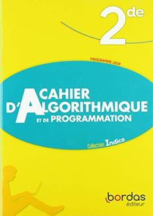Cahier d'algorithmique et de programmation 2de