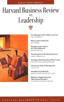 Harvard Business Review On Leadership: The Definitive Resource for Professionals