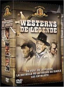 Coffret Westerns de légende 3 DVD : Les Cavaliers / Le Vent de la plaine / La Bataille de la vallée du diable [FR IMPORT]