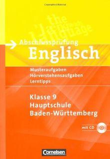 Abschlussprüfung Englisch - Hauptschule Baden-Württemberg: 9. Schuljahr - Musterübungen zur HAP: Arbeitsheft mit Hörverstehensaufgaben auf Hör-CD: ... auf Hör-CD und Lösungsheft