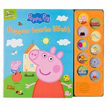 Peppa Pig - Peppas bunte Welt - Interaktives Pappbilderbuch mit 10 lustigen Geräuschen