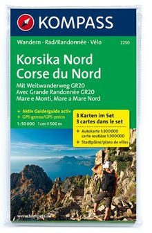 Korsika Nord - Corse du Nord - Weitwanderweg GR20: Wanderkarten-Set mit Aktiv Guide. GPS-genau. 1:50000