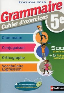 Grammaire cahier d'exercices 5e