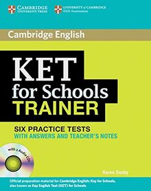 KET for Schools Trainer: Practice Tests with answers and Audio CDs (2)