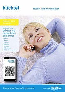 klicktel Telefon- und Branchenbuch Frühjahr 2019