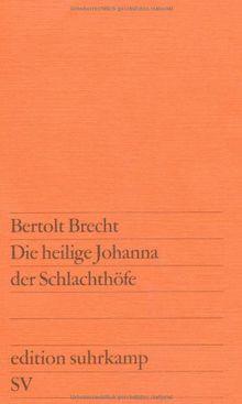 Die heilige Johanna der Schlachthöfe (edition suhrkamp)