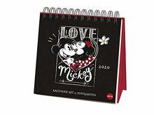 Mickey Mouse Premium-Postkartenkalender 2020 16x16,5cm