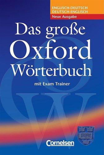 Das gro e oxford w rterbuch englisch deutsch deutsch for Ubersetzung englisch deutsch text
