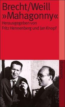 Brecht/Weill >Mahagonny< (suhrkamp taschenbuch)