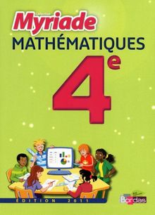 Mathématiques 4e Myriade