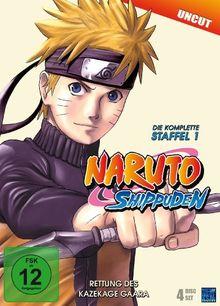 Naruto Shippuden - Staffel 1: Rettung des Kazekage Gaara, Episoden 221-252 (uncut) [4 DVDs]