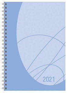 Buchkalender Wochentimer Flexi Colourlux aqua 2021: Terminplaner mit Spiralbindung. Din A5 Terminkalender 1 Woche 2 Seiten. Extra Platz für Notizen.