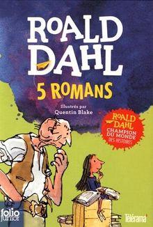 5 romans : Coffret en 5 volumes : Sacrées sorcières ; La potion magique de Georges Bouillon ; Matilda ; Charlie et la chocolaterie ; Le BGG