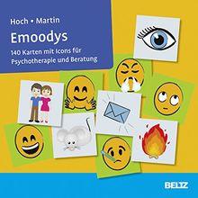 Emoodys: 140 Karten mit Icons für Psychotherapie und Beratung. Kartenset mit Anleitung. Mit 12-seitigem Booklet