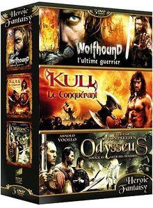 Coffret heroic fantasy : wolfhound, l'ultime guerrier ; kull le conquérant ; odysseus, voyage au coeur des ténèbres [FR Import]
