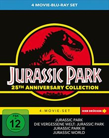 Jurassic Park 1-3 + Jurassic World - 4 Movie limited Collector's Edition [Blu-ray]