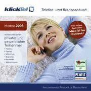 klickTel Herbst 2006 Telefon- und Branchenbuch