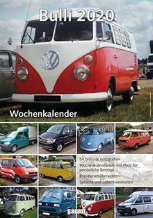 Wochenkalender VW Bulli 2020