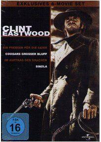 CLINT EASTWOOD 4-Movie-Set (Ein Fressen für die Geier/ Coogans Großer Bluff/ Im Auftrag des Drachen/ Sinola) 406' Spielzeit (UNiversal Pictures 2010)