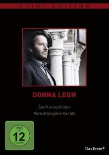 Donna Leon - Sanft entschlafen / Verschwiegene Kanäle (Krimi-Edition)
