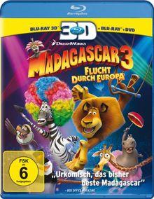Madagascar 3: Flucht durch Europa (+ Blu-ray + DVD) [Blu-ray 3D]