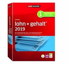 Lexware lohn+gehalt 2019 basis-Version Minibox (Jahreslizenz)|Einfache Lohn- und Gehaltsabrechnungs-Software für Freiberufler, Handwerker und Kleinbetriebe|Kompatibel mit Windows 7 oder aktueller