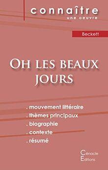 Fiche de lecture Oh les beaux jours de Samuel Beckett (Analyse littéraire de référence et résumé complet) (ÉDITIONS DU CÉNACLE)