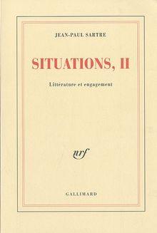 Situations : Tome 2, Littérature et engagement (Blanche)