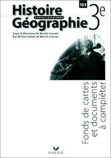 Histoire-géographie 3e : Fonds de cartes et documents à compléter