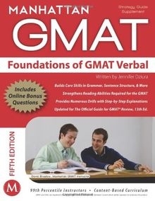 Foundations of GMAT Verbal (Manhattan GMAT Strategy Guides)