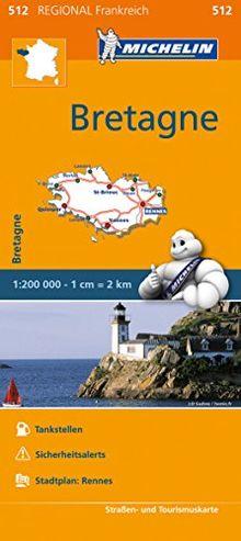 Michelin Bretagne: Straßen- und Tourismuskarte 1:200.000 (MICHELIN Regionalkarten)
