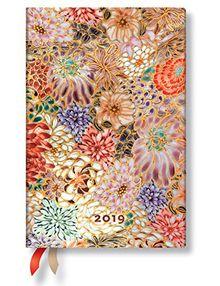 Paperblanks Terminplaner 2019 mit Lesebändchen & Innentasche | Kikka | Woche für Woche (horizontal) | Mini (140 x 95 mm)