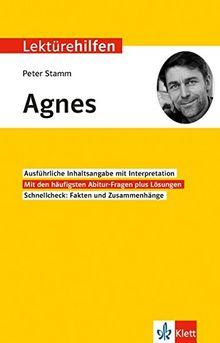 """Lektürehilfen Peter Stamm """"Agnes"""": Für Oberstufe und Abitur"""