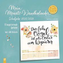"""Mein Monats-Wandkalender """"live - love - teach"""": 12 inspirierende Sprüche inkl. 600 Stickern"""