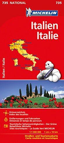 Michelin Italien: Straßen- und Tourismuskarte (Michelin Nationalkarte)