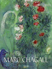 Marc Chagall 2021: Großer Kunstkalender. Edler Wandkalender mit Werken des Künstlers. Kunst Gallery Format: 48x64 cm